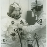 Frank Borman During Suit Test for Apollo 8