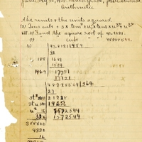 Sanford High School Arithmetic Assignment, 1908