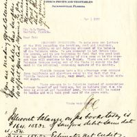 Letter from Joshua Coffin Chase to Sydney Octavius Chase (May 1, 1920)