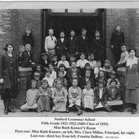 Sanford Grammar School Fifth Grade Class, 1921-1922