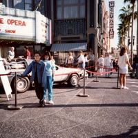 Back to the Future DeLorean DMC-12 at Universal Studios Florida, 1991