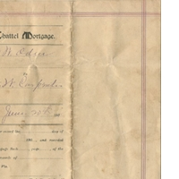 Chattel Mortgage Property Deed for Black Mule (June 20, 1911)
