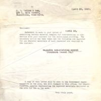 Letter from Senior Materials Engineer to J. P. Cullen & Son (April 23, 1941)