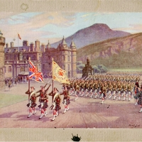 Scottish Troops Postcard