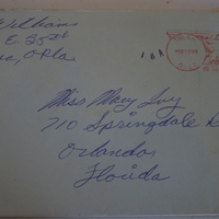 Envelope from Steve Williams to Mary Ivy (March 15, 1968)