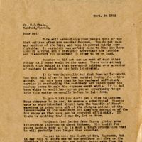 Letter from Joshua Coffin Chase to Sydney Octavius Chase (September 24, 1921)