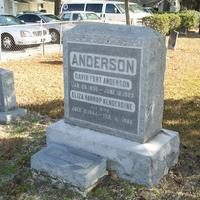 Headstone for Dr. David Fort Anderson and Eliza Harrop Kenderdine Anderson at Conway United Methodist Church Cemetery