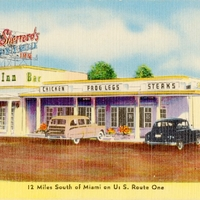 12 Miles South of Miami on U.S. Route One Postcard