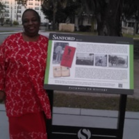 Patricia Ann Black with the Georgetown Pathways to History Project Heritage Marker #3