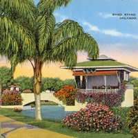 Band Stand on Lake Eola Postcard