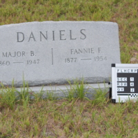 Headstone of Fannie F. Daniels at Viking Cemetery