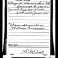 Service Record Description Card for Abraham Lancaster