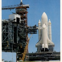 Space Shuttle Enterprise on Launch Pad 39A