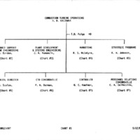 Westinghouse Electric Combustion Turbine Operations Organizational Charts