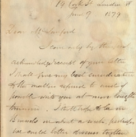 Letter from William MacKinnon to Henry Shelton Sanford (June 9, 1879)
