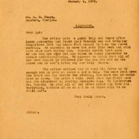 Letter from Joshua Coffin Chase to Sydney Octavius Chase (January 4, 1929)