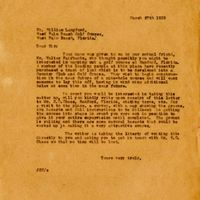 Letter from Joshua Coffin Coffin Chase to William Langford (March 27, 1922)