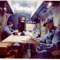 Apollo 11 Crew in the Mobile Quarantine Facility