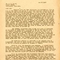 Letter from Joshua Coffin Chase to Sydney Octavius Chase (January 29, 1927)