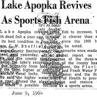 Lake Apopka Revives As Sports Fish Arena