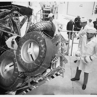 Engineers Checking Deployment of Apollo 16's Lunar Rover