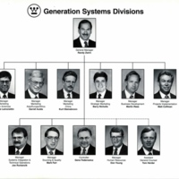 Westinghouse Electric Corporation Generation Systems Division Organizational Chart