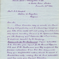 Letter from A. W. Macfarlane to Henry Shelton Sanford (December 23, 1884)