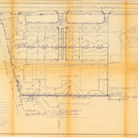 an engineering blueprint showing the detail paving plan for the parking lot at sky lake plaza later named skyview plaza and sometimes referred to as the
