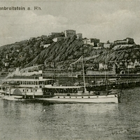 Festung Ehrenbreitstein on the River Postcard