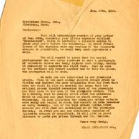 Letter from Joshua Coffin Chase to Brockelman Brothers (January 30, 1928)