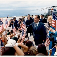President Richard Nixon and First Lady Pat Nixon at Patrick Air Force Base