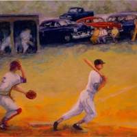 Sunday Afternoon Baseball by Bettye Reagan