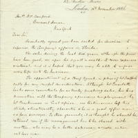 Letter from A. W. Macfarlane to Henry Shelton Sanford (November 16, 1886)