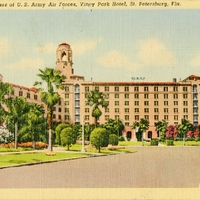 Quarters of U.S. Army Air Forces, Vinoy Park Hotel Postcard