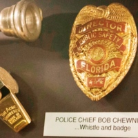 Orlando Chief of Police Bob Chewning's Whistle and Badge