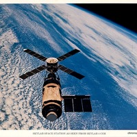 Skylab Space Station as Seen From Skylab 4 CSM