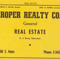 Roper Realty Company Advertisement