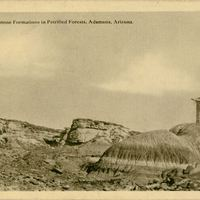 Sandstone Formations in Petrified Forests Postcard