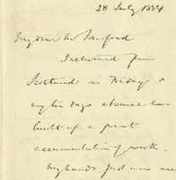 Letter from Edwyn S. Dawes to Henry Shelton Sanford (July 28, 1884)