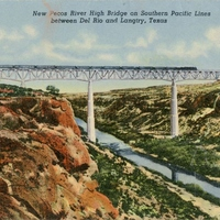 New Pecos River High Bridge on Southern Pacific Lines Postcard