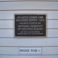 Mount Dora Train Station Historic Marker