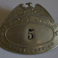 U.S. Post Office Mailman Badge, 1922