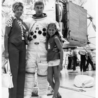 Astronaut Eugene Cernan With Wife and Daughter
