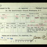 Internment Card