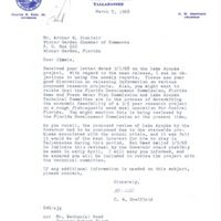 Letter from C. W. Sheffield to Arthur W. Sinclair (March 7, 1968)