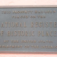 U.S. National Register of Historic Places Dedication Marker for the Lake Wales Train Depot