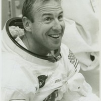 Astronaut Jim Lovell During Suit Test for Apollo 8