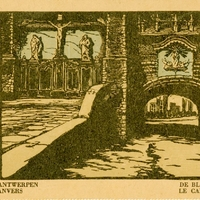 Antwerp Butcher's Hall Postcard