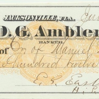 Personal Check from Edwin G. Eastman to Manuel Medecis (June 8, 1871)