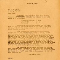 Letter from Joshua Coffin Chase to Sydney Octavius Chase (March 14, 1929)